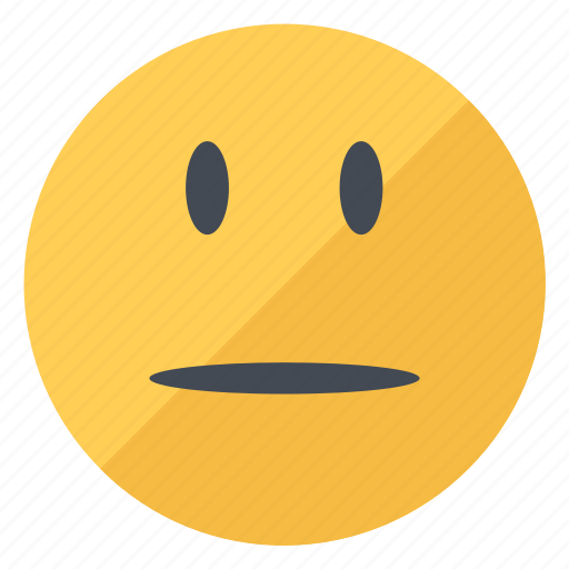emoji, emoticon, emotion, expression, neutral, smiley, yellow icon