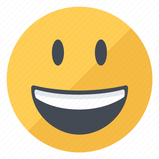 Emoji, emoticon, expression, happy, smile, smiley, yellow