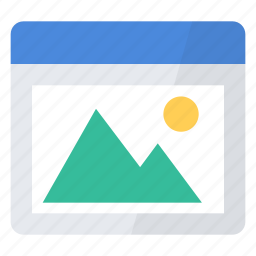 application, file, gallery, image, photo, picture, window icon