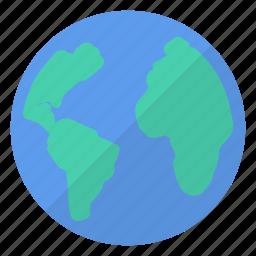 blue, earth, global, green, planet, world, worldwide icon