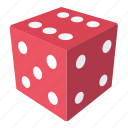 casino, dice, game, gaming, number, play icon