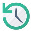 clock, event, history, previous, time icon