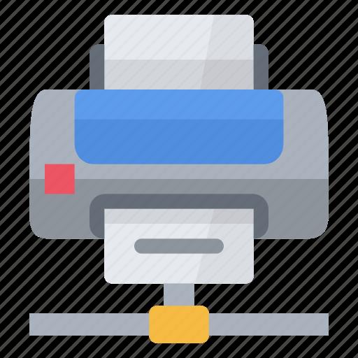 internet, laser, network, page, paper, print, printer icon