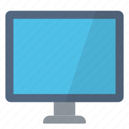 blue, computer, device, display, monitor, pc, screen icon