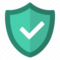 checked, protect, protected, secure, shield, unlock, verfied icon