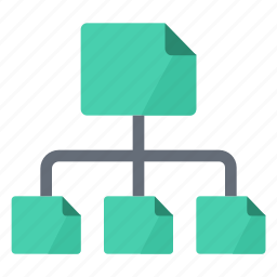 architecture, construction, hierarchy, sitemap, structure icon