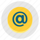 address, at, delivery, email, mail icon