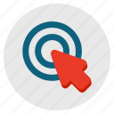 aim, arrow, click, interfaction, location, pointer icon