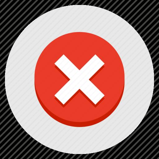 cancel, close, delete, discard, exit, remove, x icon