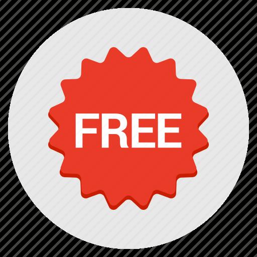 badge, free, label, sales, sticker icon