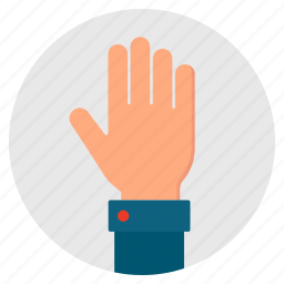 give, hand, hello, hi, open, palm icon