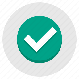 accept, approve, green, tick, yes icon