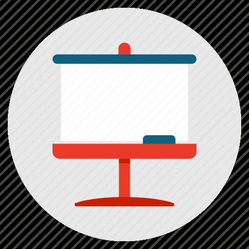 lecture, presentation, school, seminar, teacher, whiteboard icon