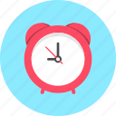 alarm, alarm clock, clock, time icon