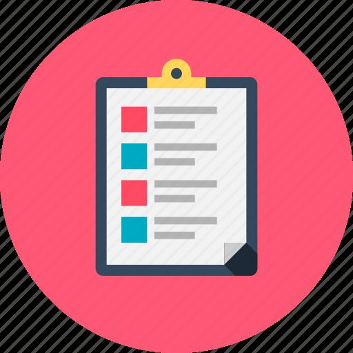 checklist, document, form, list, memo, online checklist, survey icon