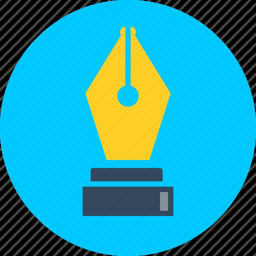 author, pen, school supplies, writer, writing icon