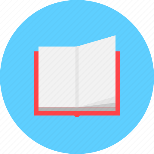 learning, note book, open, open book, reading, study icon