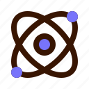 atom, chemistry, experiment, lab, physics, research, science icon