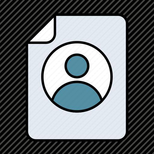 account, file icon