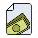 earnings, economy, expense, finance, money icon
