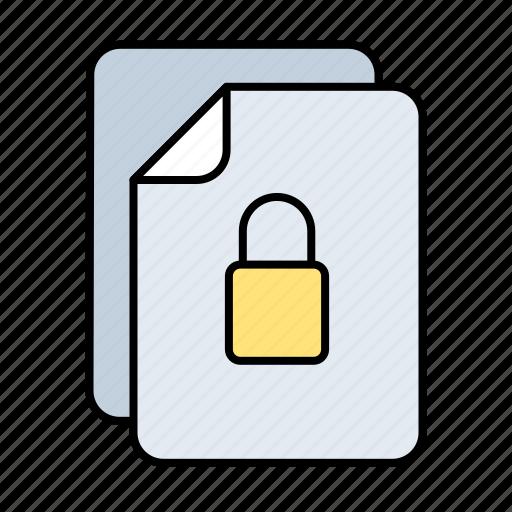 files, locked, multiple icon