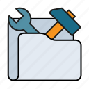 configuration, folder, options, preferences, repair, settings, tools icon