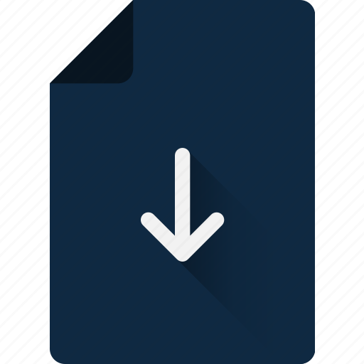 arrow, data, down, download, file, storage icon