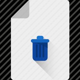 bin, delete, junk, recycle, remove, trash icon