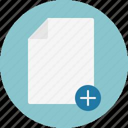 add, doc, document icon