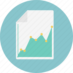 business, chart, document, graph, grow icon