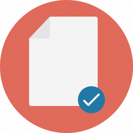 check, document, done, file, yes icon