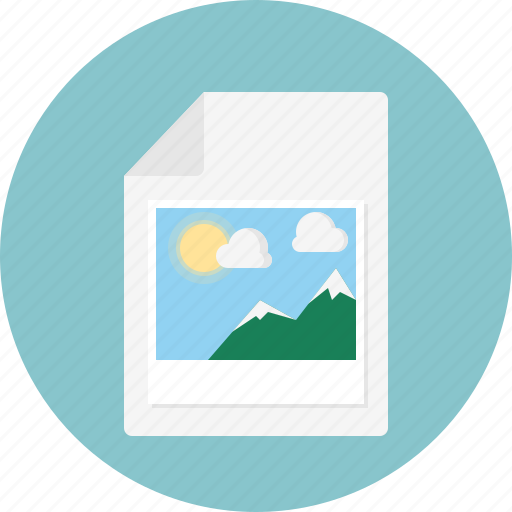 attached, cloud, file, image, photo, picture, sun icon