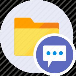 bubble, chat, comment, communication, folder, message, speech icon