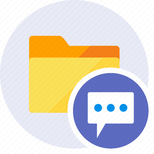 bubble, chat, comment, communication, folder, message, speech icon