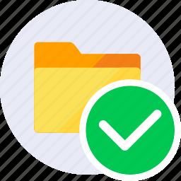 check, folder, good, mark, ok, tick, yes icon
