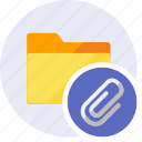 archive, attached, clip, documents, folder, office, sheet icon