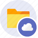 cloud, cloudy, file, folder, forecast, rain, weather icon