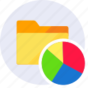analytics, chart, data, folder, report, statistic, statistics icon