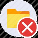 close, delete, exclude, folder, remove, cancel, trash