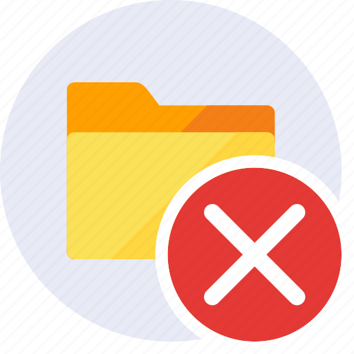 Close, delete, exclude, folder, remove, cancel, trash icon - Download on Iconfinder