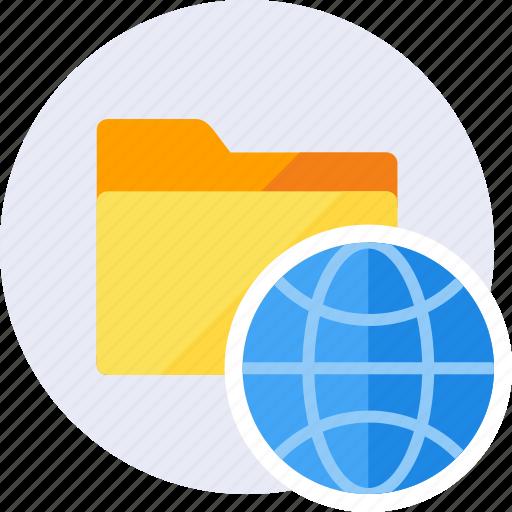 browser, folder, globe, internet, online, seo, web icon