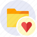 favorite, favorites, favourite, folder, heart, love, star icon