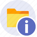 alarm, alert, danger, folder, info, information, warning icon