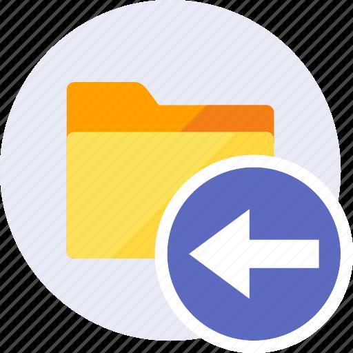 arrow, arrows, back, folder, left, navigation, pointer icon