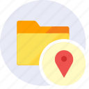 direction, folder, gps, local, location, maps, pointer icon