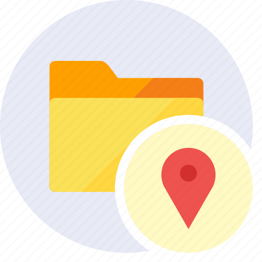 Folder, gps, local, location, maps, direction, pointer icon - Download on Iconfinder