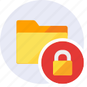 block, folder, lock, password, protection, secure, security icon