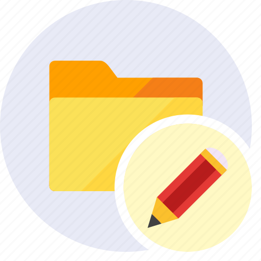 design, draw, edit, folder, pen, pencil, write icon