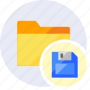 archive, disk, extension, file, folder, guardar, save, storage icon