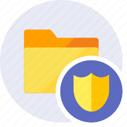 folder, key, protect, protection, safety, secure, shield icon